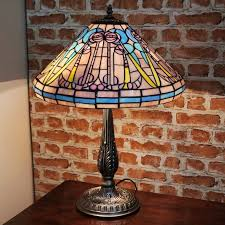 new large 16 diameter mackintosh tiffany stained glass table lamp hand made deco