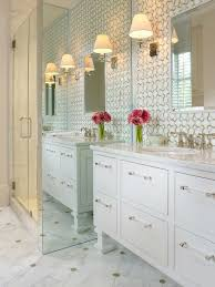 Small Picture white bathroom raised vanity marble mosaic tile backsplash