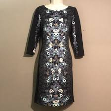 Antonio Melani Floral Print Scuba Dress