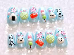 Nails deco nails 3D nails onigiri kawaii food kanji by Aya1gou ...