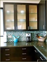 Granite Countertops Frosted Glass Kitchen Cabinets Lighting Flooring Sink  Faucet Island Backsplash Herringbone Tile Travertine Particleboard Raised  Door ...