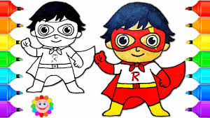 How To Draw A Super Hero Boy Ryan From Ryan Toys Review Drawing For