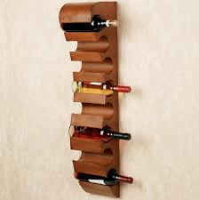 Contemporary Wall Mounted Wine Rack. Decorative Wine Racks For Wall Decor  Option