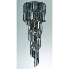 toronto 9 light pendant ceiling light with smoked crystal detail