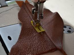 test your first stitches on leathers