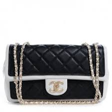 black and white chanel bags. chanel calfskin quilted graphic medium flap bag black white new and chanel bags e