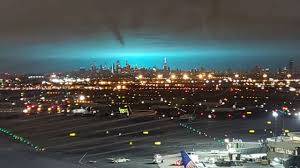 Con Edison Light Electrical Arc Turns Night Sky Blue In Nyc