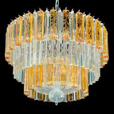 bette murano glass chandelier 9 lights transpa and amber