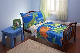 bed sheets for kids. Everything Kids 4 Piece Toddler Bedding Set, Dinosaurs Bed Sheets For E