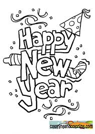 Small Picture New Year Coloring Page Printable New Years Coloring Pages For