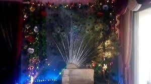 peacock ganpati decoration youtube