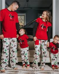 DESCRIPTION. Retail Family christmas pajamas sets Christmas Pajamas Sets Antler Printed Matching