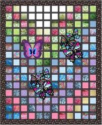 stained glass garden stained glass quilt kit erfly w finished embroidery blocks art using