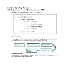 standard operating procedures template word sop standard operating procedure template