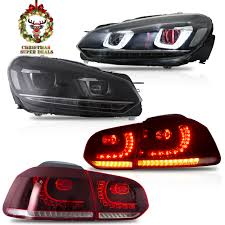 Mk6 Gti Brake Light Bulb Details About Led Headlight Demon Eyes Red Clear Taillight For 10 13 Golf Mk6 Gti 12 13 Golf R