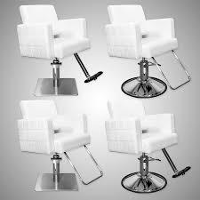 Havana Stylist Chair Quilted White Hairdresser Chair