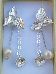 silver chandelier earrings sterling silver earrings handmade chandelier earrings pearl chandelier earrings bridal chandelier earrings