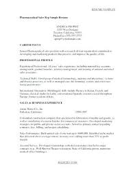 Pharmaceutical Representative Cover Letter Cover Letter Sales ...