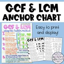 Lcm Anchor Chart Worksheets Teaching Resources Tpt