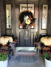 Front Door Decorating Cute Halloween Front Porch Decorations To Greet Your Guests
