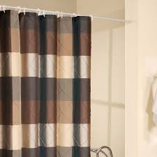 Brown And Black Shower Curtain