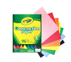 Amazon Com Crayola 96 Ct Construction Paper Assorted Colors Assorted Colored Paper L