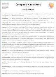 Business Report Format Template Pimpinup Com