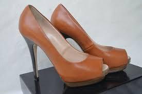 image is loading giuseppe zanotti leather p toe pump tan brown