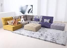 cozy modular sofa design in living room by fama  interior