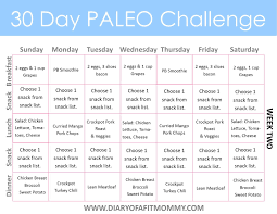 30 Day Healthy Eating Plan 30 Day Paleo Challenge Paleo Dieta 30 Day Paleo
