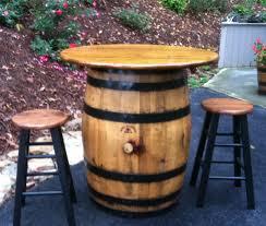 old whiskey barrel pub table patio table bistro table jack daniels jim beam ebay authentic jim beam whiskey barrel table