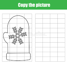 Grid Copy Children Educational Game, Printable Drawing Kids ...