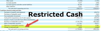 Restricted Cash Examples Balance Sheet Cash Flow