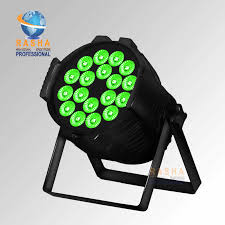 Xmas Discount China Stage Light Rash Dmx 18pcs 18w 6in1 Rgbaw Uv Aluminum High Brightness Led Flat Par Can Stage Party Powercon