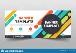 Creative Banner Design For Website Colorful Creative Business Banner Template Header Cover For