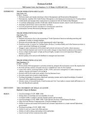 Trade Operations Resume Samples | Velvet Jobs