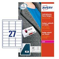 Avery Self Adhesive Name Badges