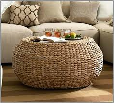 lovely rattan storage ottoman with wicker coffee table home woven