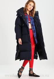 womens dark blue tommy hilfiger gigi hadid down coat jg5q802