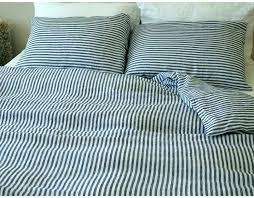navy stripe duvet cover