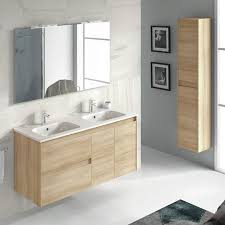 Bathroom Vanity Double Custom WS Bath Collections Ambra 48'' Wall Mounted Double Bathroom Vanity