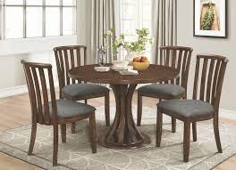 prescott vine cinnamon round dining room set from coaster coleman furniture