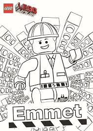 Free Coloring Page From The Lego Movie Featuring The Hero Emmet