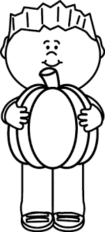 pumpkin clipart black and white. Perfect White Black And White Kid Holding A Pumpkin To Clipart And L