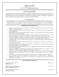 Sample Resume Operations Manager Professional Military Resume