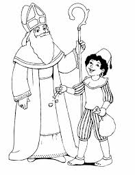 Kleurennu Sint En Piet Met Strooigoed Kleurplaten