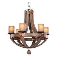 rustic chandelier olaf 6 lights