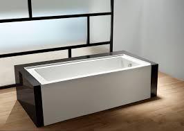 aqua eden 60 acrylic alcove bathtub with left hand drain and overflow hole white com