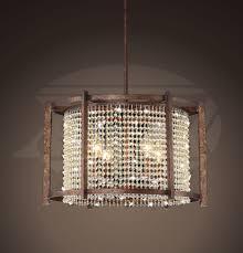 griselda dark brown 4 light crystal pendant chandelier 19 hx19 w