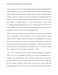 advertising information or manipulation essay advertising advertising information or manipulation marketing essay advertising information or manipulation essay example